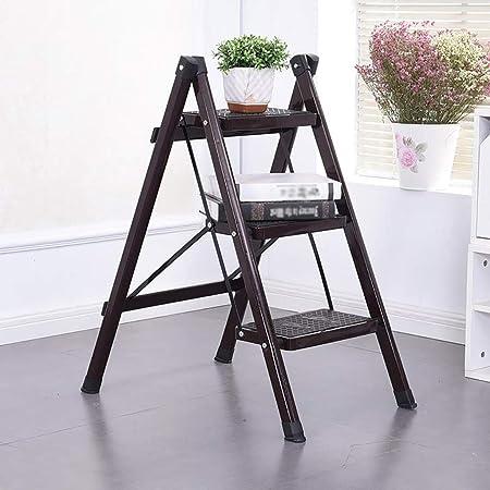 Escalera plegable Escalera plegable de hierro forjado, escalera plegable para el hogar, escalera plegable de cocina, pies antideslizantes |Diseño plegable fácil de guardar - adecuado para el hogar / l: Amazon.es: Hogar
