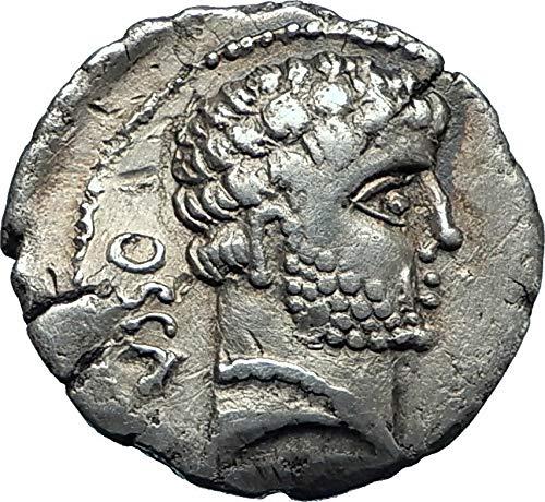 1000 IT DOMITIUS CALVINUS General under Julius Caesar Spa coin Ch VF NGC