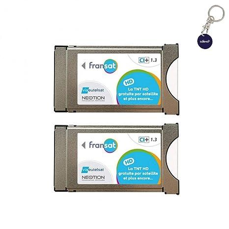 Pack de 2 módulos PCMCIA Fransat Ci + Última versión 1.3 ...
