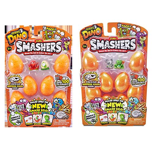 - Smashers Zuru Series 3 Dino 8 Figure Two Pack Bundle (Random Styles)