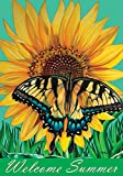Cheap Toland Home Garden Swallowtail Sunflower 28 x 40 Inch Decorative Welcome Summer Butterfly Flower House Flag