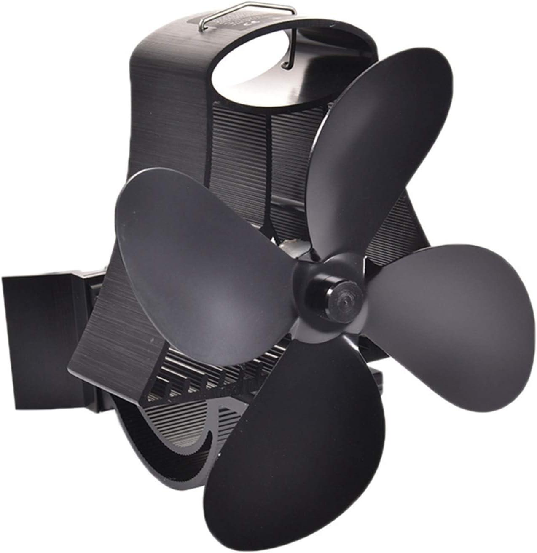 DYXYH Ventilador de Estufa con energía térmica para Colgar en la Pared de 4 Cuchillas, Ventilador de Techo ecológico con energía térmica, Sala Grande para Chimenea, Quemador de leña