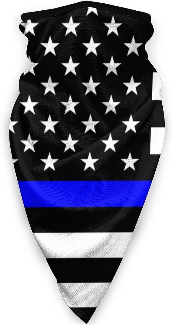 5 pcs USA Thin Blue Line Flag Face Cover Shield Mask Head Buff Gaiter