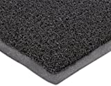 Durable Corporation 681 Extruded Vinyl DuraLoop Entrance Mat, Indoor, Outdoor and Vestibule Areas, 48'' Width x 72'' Length x 0.47'' Thickness, Black
