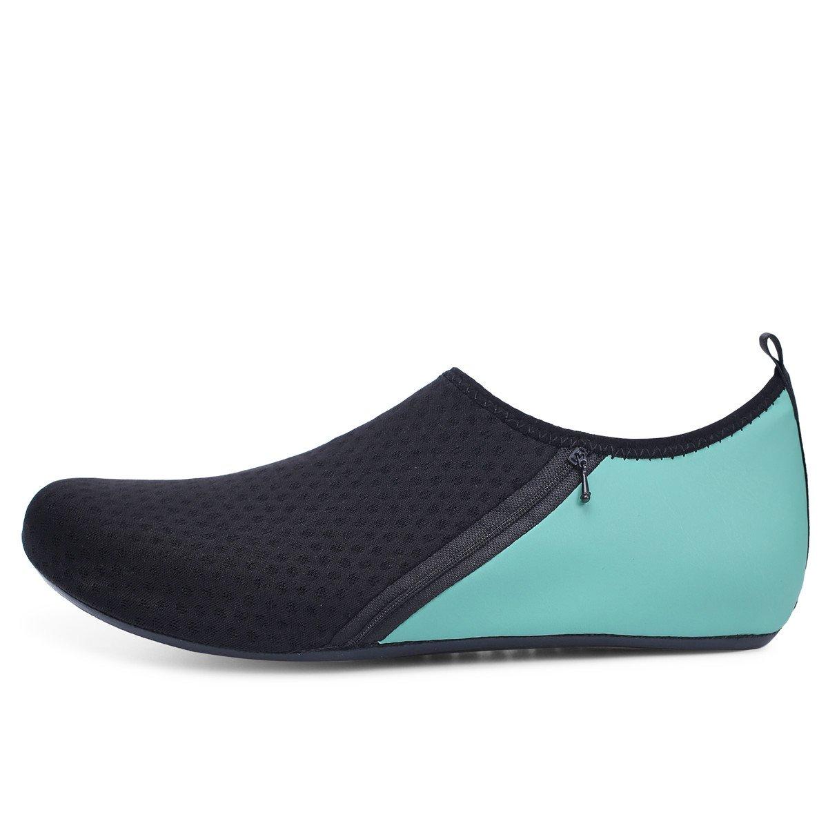 JIASUQI Mens Beach Walking Sandals Water Shoes for Pool Swim Zip Green US 7.5-8.5 Women, 6.5-7.5 Men by JIASUQI (Image #4)