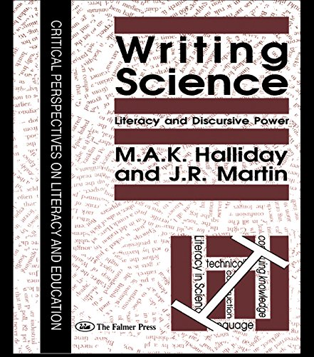 Writing Science: Literacy And Discursive Power Pdf