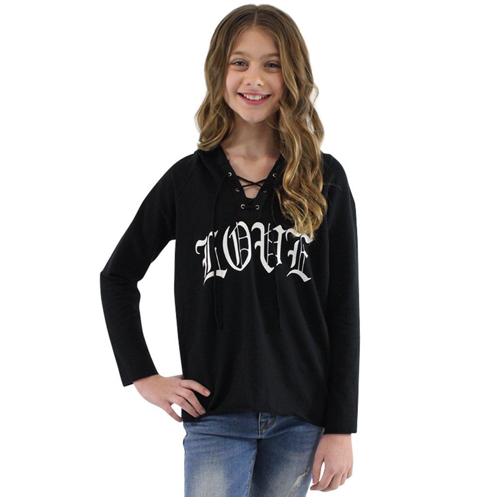 Big Girls' 7-16 - Discounted Fashion Hoodies, Love, Medium 10/12