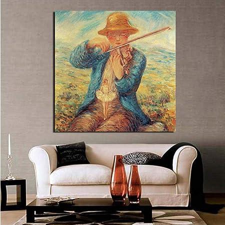 tzxdbh Período Lienzo Pintura Impresiones Cuadros de Pared para Sala de Estar Decoración para el hogar Arte Moderno de la Pared Pintura al óleo Cartel Imagen: Amazon.es: Hogar