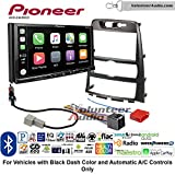Volunteer Audio Pioneer AVH-2440NEX Double Din Radio Install Kit with Apple CarPlay, Android Auto and Bluetooth Fits 2009-2012 Hyundai Genesis (Black) (Automatic A/C Controls)