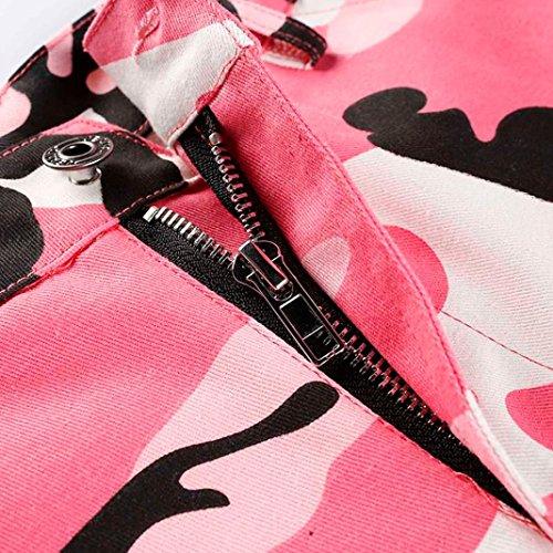 de Rawdah atractivo Pantalones de moda mujer te Pantalones de Cargo Pantalones vaqueros hacen aire camuflaje Casual libre Camo más Elegantes Rosa y al xYxrqw
