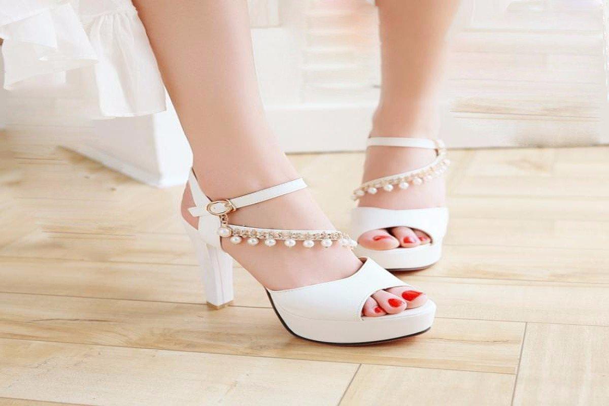 Mujersandalias De Simple Zapatos Tacón Y Gtvernh a8Epn