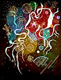 """This is an Unframed 16"""" by 21"""" Giclee Canvas Prints of Movement I - By Wassily Kandinsky"""