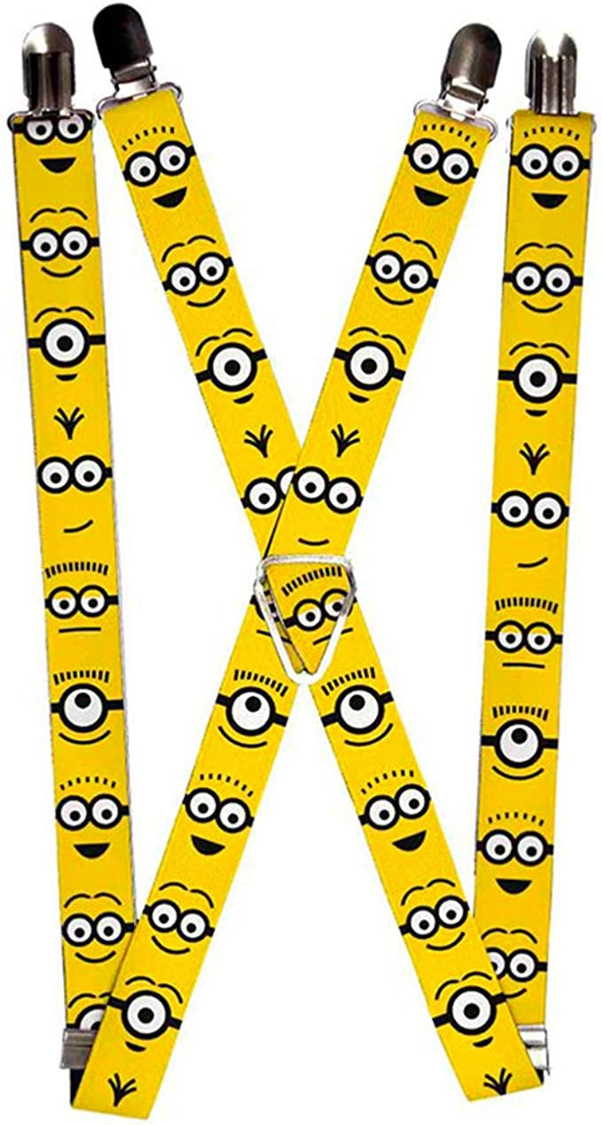 Buckle-Down Suspenders-Minion Expressions Yellow//Black SP-WDS024