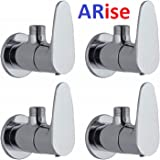 ARISE JAGGER Vista Brass Chrome Plated Angle Valve Cock for Bathroom for Geyser and Wash Basin Connection - Set of 4