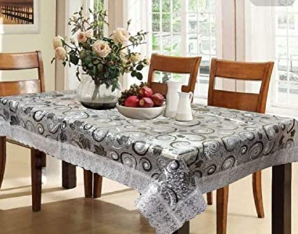 Kuber Industries PVC Dining Table Cover 6 Seater - Multicolor