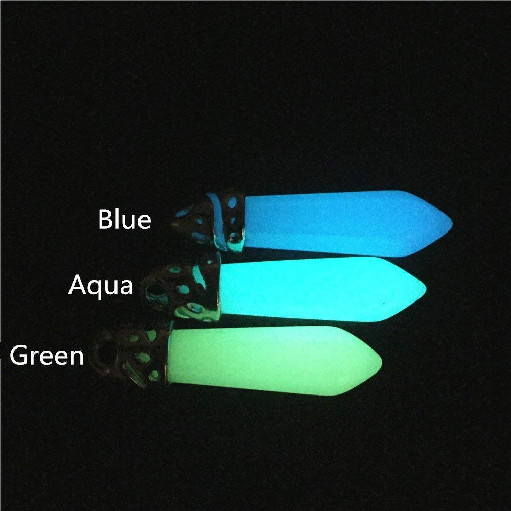 Kida Necklace Glowing Crystal Pendant Atlantis Cosplay Necklace Glow in the Dark Crystal Pointed Necklace Glow in dark Necklace