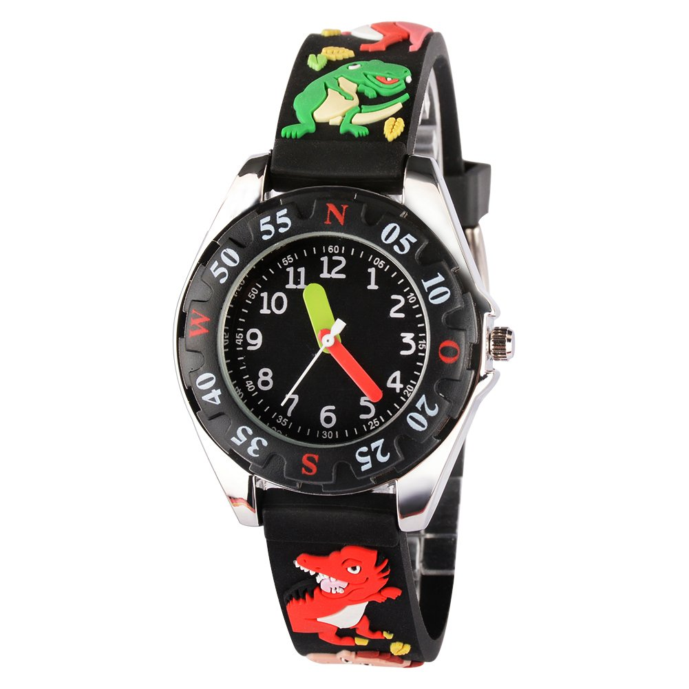 Venhoo Kids Watches 3D Cute Cartoon Waterproof Silicone