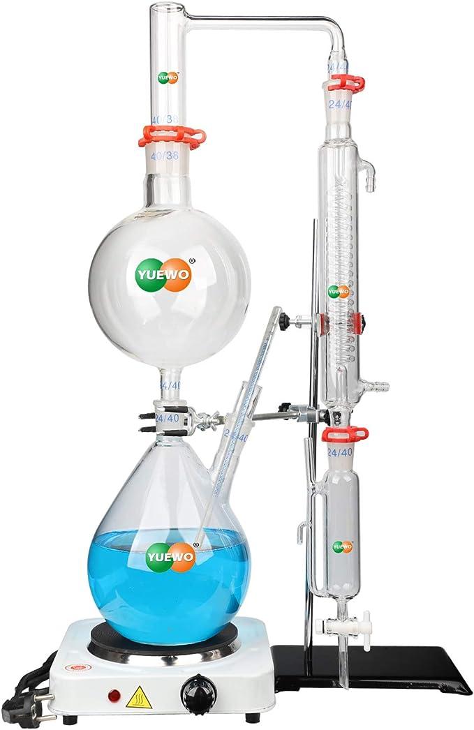 hzexun Kit De Destilación De Aceite Esencial De Laboratorio ...
