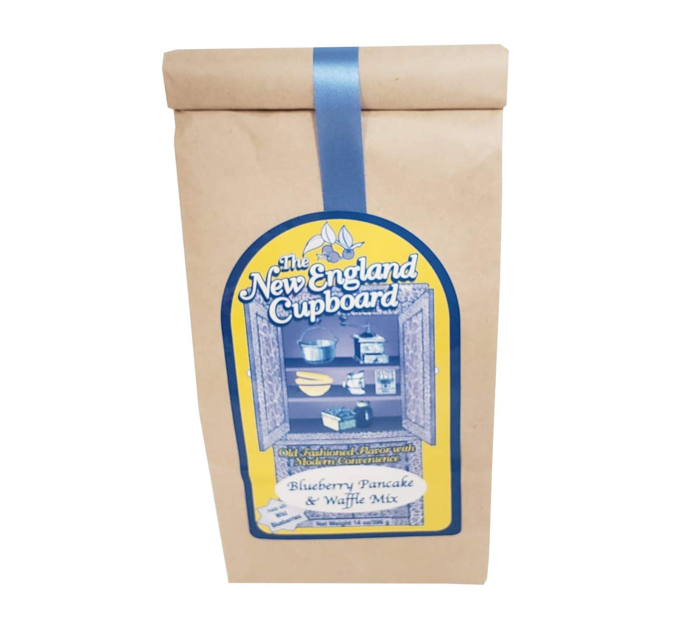 Wild Blueberry Pancake Mix, 14 oz - Made in Maine with Wild Blueberries, Muffins, Waffles
