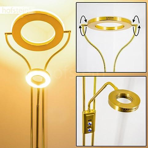 led deckenfluter donna wohnzimmer stehlampe aus messing mit 2070 lumen led fluter mit warmweiem - Wohnzimmer Stehlampe Led