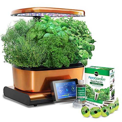 Harvest Touch by Aerogarden Copper Goldtone Stainless Steel Indoor Garden with Seed Starting Kit (See other available colors and options) by AeroGrow