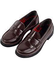 ACE SHOCK Women JK Uniform Dress Shoes Slip on Oxford Shoes Japanese Anime Cosplay Props