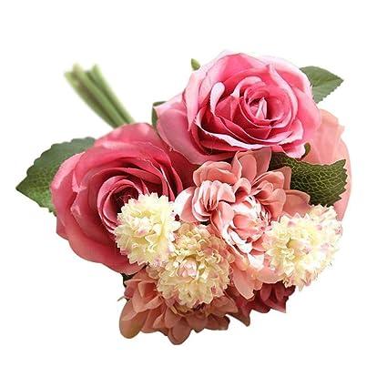Amazon Com Snowman Smile Rose Artificial Flowers Bouquets