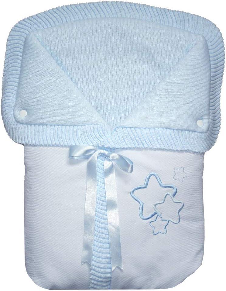 color Azul Estrellas Saco de Mano o Capazo Universal Estrellas//Osito