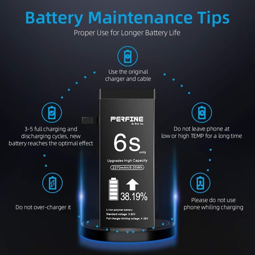 Perfine 2370mAh Bater/ía para iPhone 6S con Kit de reparaci/ón