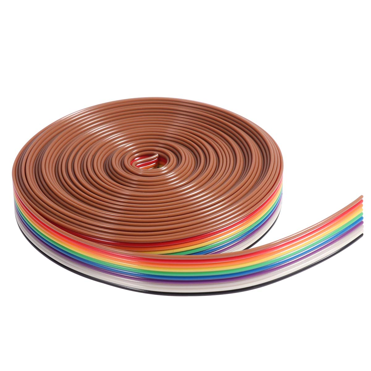 Ueetek 5M 10 Pin Rainbow Ribbon Cable Wire