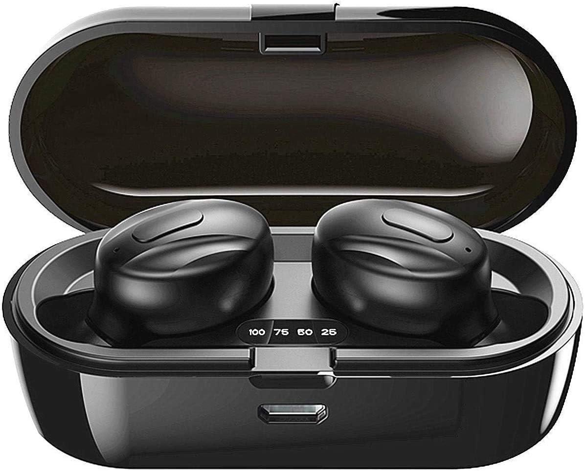 Bluetooth-Kopfhörer, Aclouddatee 2020 Bluetooth 5.0 Wireless-Kopfhörer Stereo-Soundmikrofon Mini-Wireless-Ohrhörer mit Kopfhörern und tragbarem Ladekoffer für iOS Android PC (FsP-1) .