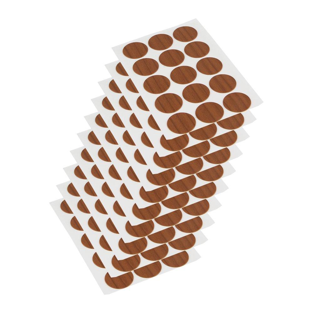 Lote de 200 piezas /Ø13mm Emuca 4026415 Tapa embellecedora adhesiva Blanco