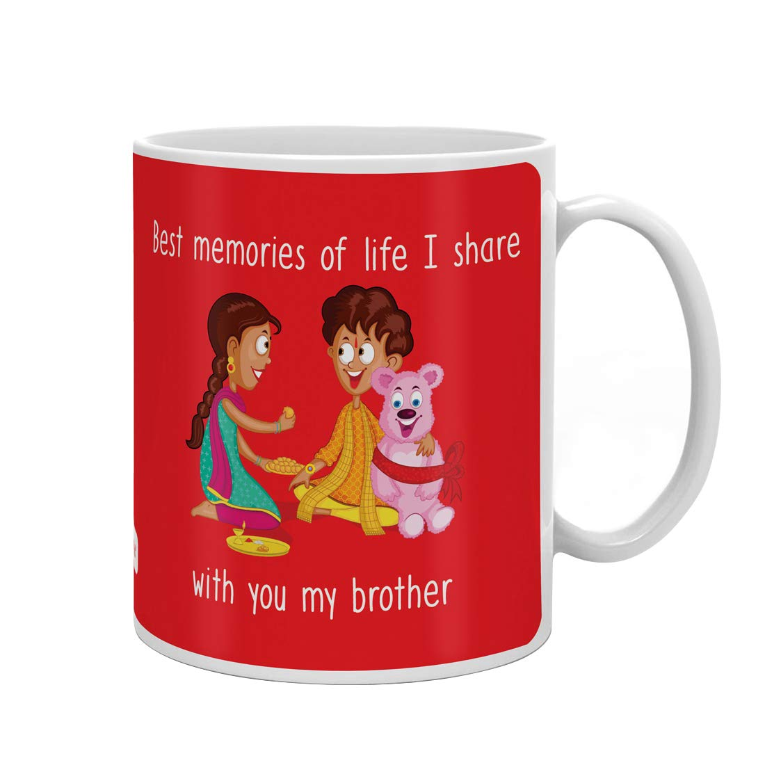 Indi ts Rakhi Gifts for Brother Bro Sis Love Quote Printed