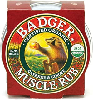 product image for Badger - Sore Muscle Rub, Cayenne Pepper and Ginger, Organic Sore Muscle Rub, Warming Balm, Muscle Relief Balm, Warming Muscle Rub, Sore Muscle Balm, 0.75 oz
