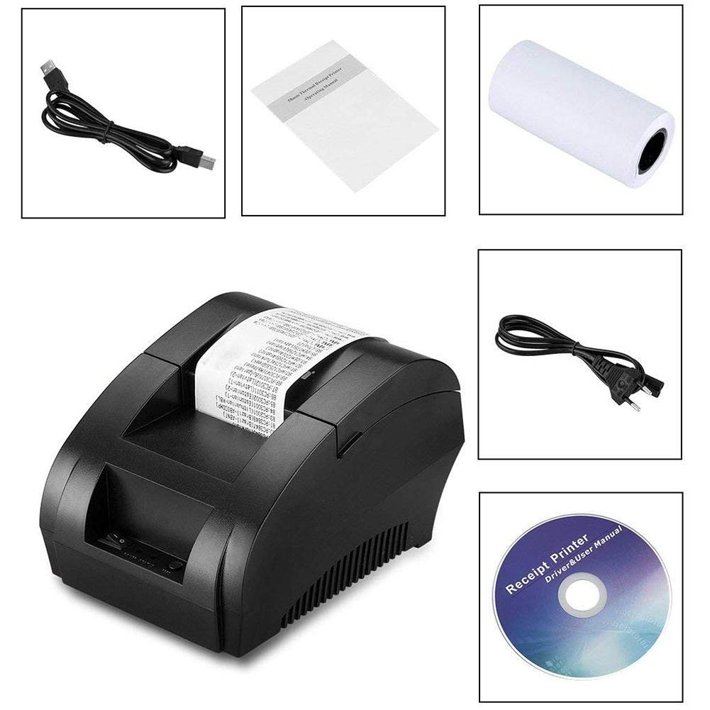 Android Y Windows 58 Mm Port/átil De Recibos USB Impresora De Boletos POS Compatible con iOS Funihut Mini Impresora WiFi T/érmica Tickets Inal/ámbrica