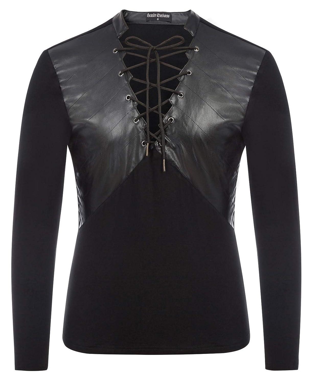 Men's Steampunk Clothing, Costumes, Fashion Mens Renaissance Costume Medieval Knight Gothic Pirate Shirt Tops SLA02020 $21.99 AT vintagedancer.com
