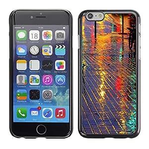 Paccase / SLIM PC / Aliminium Casa Carcasa Funda Case Cover para - Street Reflective Night City Tiles - Apple Iphone 6