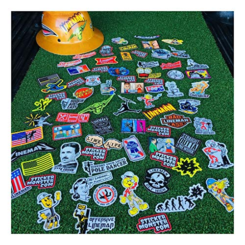 Lineman (64) Hard Hat Stickers Hardhat Sticker, Linemen, Electrician, Reddy IBEW by Unknown (Image #3)
