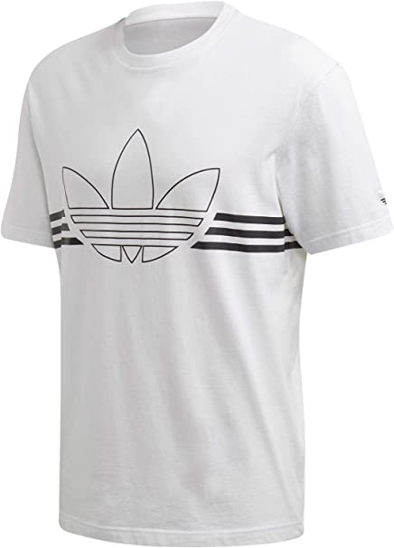 adidas Outline TRF Tee, Maglietta Uomo, Bianco (White), XS
