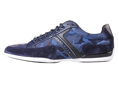 Hugo Boss - Zapatillas para Hombre Blanco Blanco, Color Blanco, Talla 10 UK: Amazon.es: Zapatos y complementos