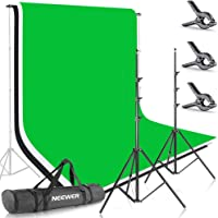Neewer Photo Studio 8.5 X 10 feet/2.6 X 3 Meters Backdrop Stand Background Support System with 6 X 9 feet/1.8 X 2.8…