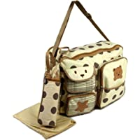 3pcs Baby Diaper Nappy Chaning Bags - Beige Bear 91351