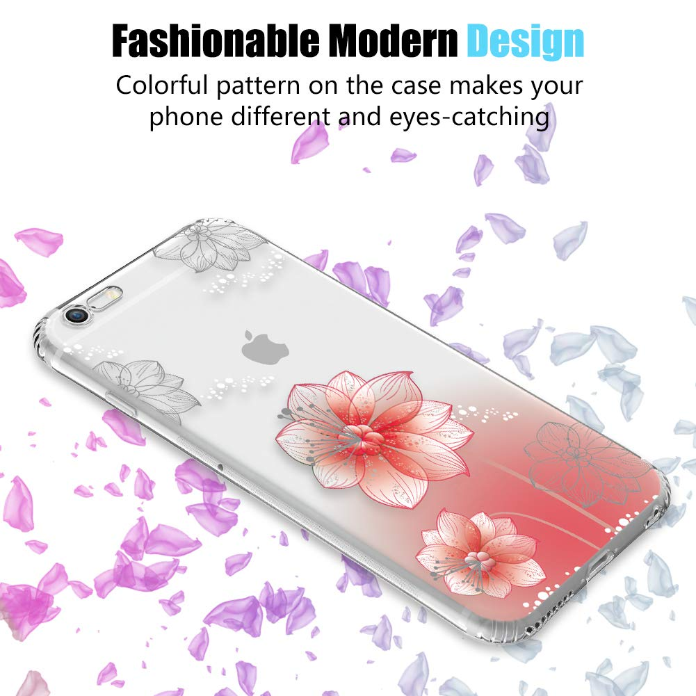 Antichoc Clair Florale Housse pour Apple iPhone 6S Plus//iPhone 6 Plus 5,5 Ultra Mince Motif de Fleurs Claires TPU Souple Coque Sinjoro Coque iPhone 6S Plus//iPhone 6 Plus Flamingo#8