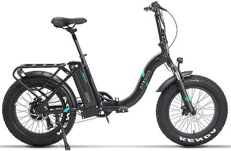 Fitifito Fatbike FT20 20 pulgadas bicicleta eléctrica Fatbike E-Bike Pedelec 48 V 250 W Bafang Motor trasero 7 velocidades Shimano Cambio Blanco Mate Negro: Amazon.es: Deportes y aire libre