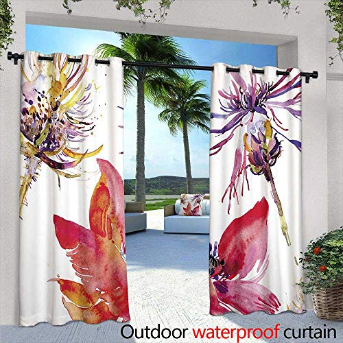 Outdoor Balcony Privacy Curtain,Original youth seamless patterns, repeating image for any pattern, t shirts, wallpaper, curtains White black colors,W84