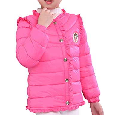 Rundhals Mädchen Anyu Lange Jacket Wintermantel Ärmel Winter j4AR5Lq3