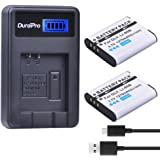 DuraPro 2Pcs LI-90B,LI-92B Battery + LCD USB Charger for Olympus Tough TG-5, TG-Tracker, SH-1, SH-2, SP-100 IHS, Tough TG-1 iHS, Tough TG-2 iHS, Tough TG-3, Tough TG-4, SH50 iHS, SH60, XZ-2 iHS Camera