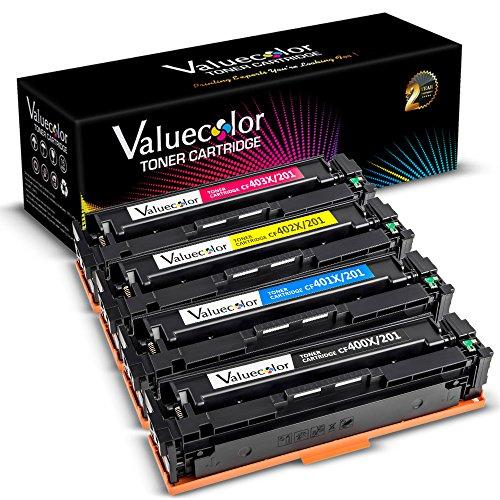(ValueColor Compatible Toner Cartridge Replacement for HP CF400X  ( Black, Cyan, Yellow, Magenta , 4 pk ))