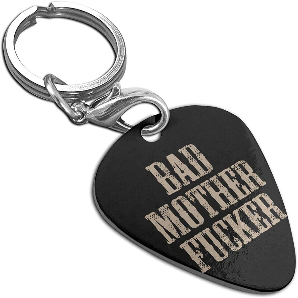 BAD MOTHER FUCKER Custom Guitar Pick Pendant Necklace Keychain