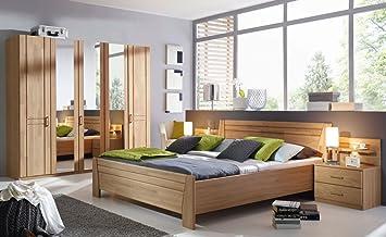 lifestyle4living Schlafzimmer in Wildeiche natur teilmassiv ...